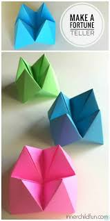 how to make paper fortune tellers inner child