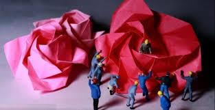 cara membuat origami bunga dari uang kertas cara membuat origami bunga mawar santai saja