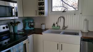 salt marsh cottage how to finish butcher block countertops with so then i started researching the stain and poly angle the problem with beech is that is a soft and porous i was worried about the stain looking blotchy
