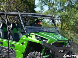 super atv full tilting front windshield kawasaki teryx 800 teryx4