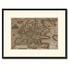 Gifts Home Decor Europe Vintage Sepia Map Canvas Print Picture Frame Gifts Home