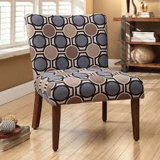 Upholstered Accent Chair Multicolor Lattice Circle Upholstered Accent Chair Free Shipping