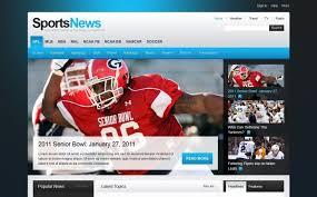 sports news psd template 35725