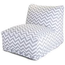 Outdoor Bag Chairs Amazon Com Majestic Home Goods Chevron Bean Bag Chair Lounger
