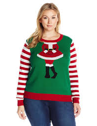 ugly christmas sweater women u0027s plus size mrs claus head shot