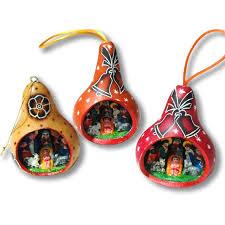 peruvian gourd art gourd nativity christmas ornaments peru