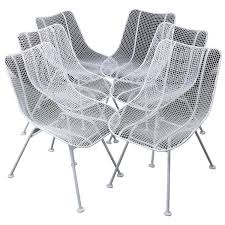 White Wire Chair Woodard Mid Century Modern Wire Mesh Chairs At 1stdibs
