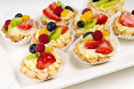 canapé made in dessert made of fruit a voulavent pastry volauvent is a