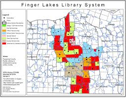 Finger Lakes New York Map by Finger Lakes Library System Public Library Service Area Maps