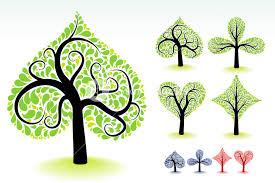 artistic ornamental trees vector design elements royalty free