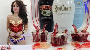 vodka bloody broken glass cupcakes halloween tipsy bartender