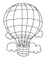 free printable air balloon coloring pages kids air