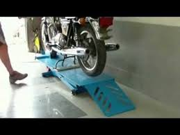 Motorcycle Bench Lift Electric Motorcycle Scissor Lift Mki Youtube