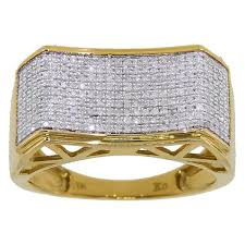 3 diamond rings 10k yellow gold men s 3 5ct tdw diamond ring free shipping today