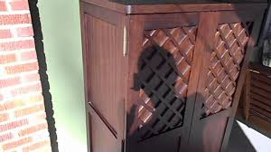 Wood Computer Armoire by Pier 1 Imports Wood Cabinet Hidden Computer Setup Sold Youtube