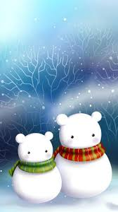 wallpaper iphone 6 christmas white puppets snow 4 7 inches 750 x