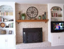fireplace decorating fireplace mantel shelves an easy makeover