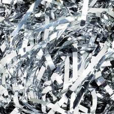 foil shreds metallic shreds 1kg metallic silver