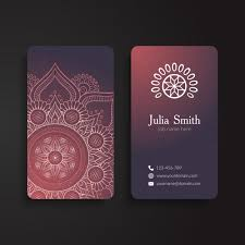 decorative corporate card with ornaments vector free
