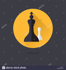 Chess Piece Designs by King And Pawn Chess Pieces Flat Design Long Shadow Vector Icon