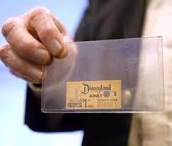 biglietto ingresso disneyland il primo biglietto d ingresso disneyland mai venduto barbara picci