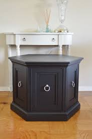refinishing end table ideas black updated octagon end table google search furniture refinish