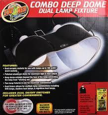 amazon com zoo med combo deep dome dual lamp fixture pet