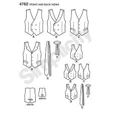 pattern for boys and men vests and ties simplicity