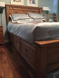 Storage Beds Diy Farmhouse Storage Bed With Storage Drawers Diy Projects Master