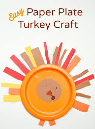 easy paper plate turkey craft fantastic learning