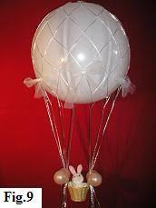 hot air balloon centerpiece how do i make the netting for hot air balloon centerpieces