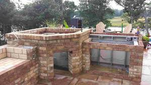 backyard kitchen ideas another outdoor kitchen with our wood fired oven