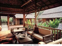 Thai Style House Stock Photos  Thai Style House Stock Images Alamy - Thai style interior design