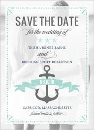 nautical save the date mint pastel nautical save the date announcement