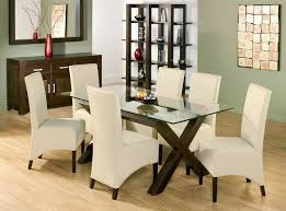 glass dining room table set glass dining room table set for in conjuntion with attractive