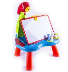 deao childrens art studio projector desk quick flip 2in1 double