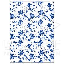 damask ribbon wedding reception card royal blue floral damask ribbon