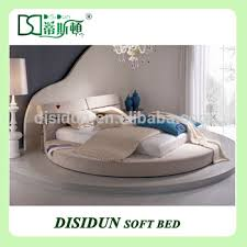 pu leather circle bed with up and down headboard modern designs