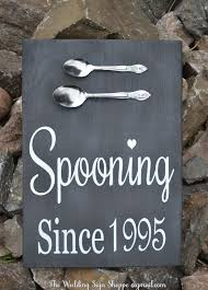 wedding gift kitchen chalkboard wedding sign spooning since wedding wall