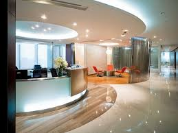 luxury office reception area design ideas with amazing ceiling