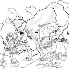 train dragon coloring pages kids print vikings