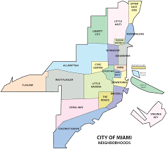 Little Havana Miami Map by File Miami Neighborhoods Map Png Wikipedia
