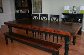 hand crafted kitchen tables how to paint a kitchen table our makeover jpg