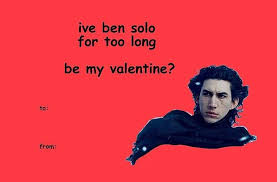 Cheesy Valentine Memes - star wars the force awakens valentines cards star wars valentines