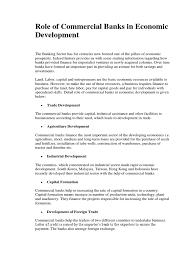 Commercial Banker Resume Role Of Commercial Banks In Economic Development Banks Money