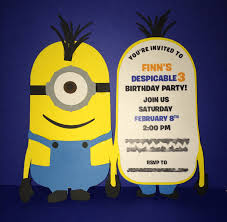 diy minion invitations minions birthday invitation cards free printable invitation