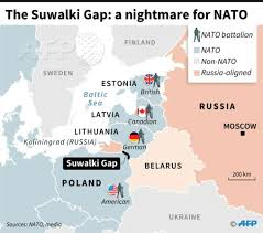 Map Of Eastern Europe by Map Of Eastern Europe Showing The Suwalki Gap A Zone Between