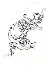 20 anchor with rose tattoo designs
