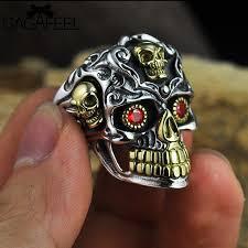 cool skull rings images Buy gagafeel vintage cool open jewelry skull jpg