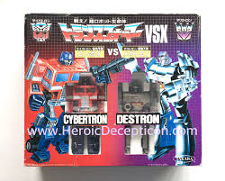 optimus prime birthday heroic decepticon vsx giftset convoy optimus prime vs